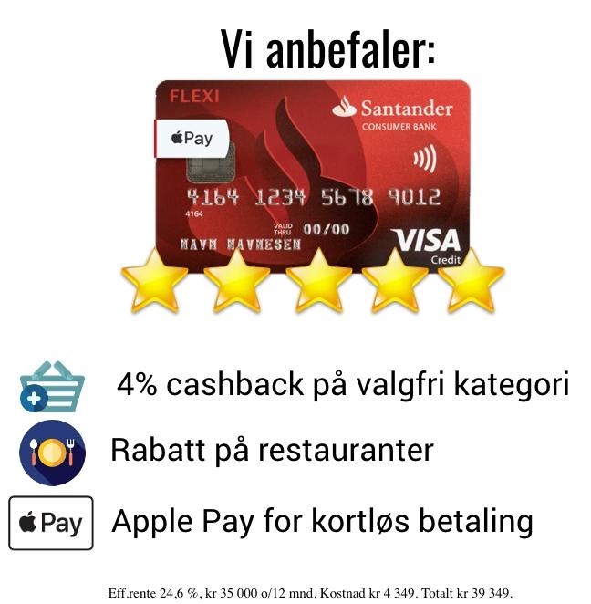 Det beste norske kredittkortet