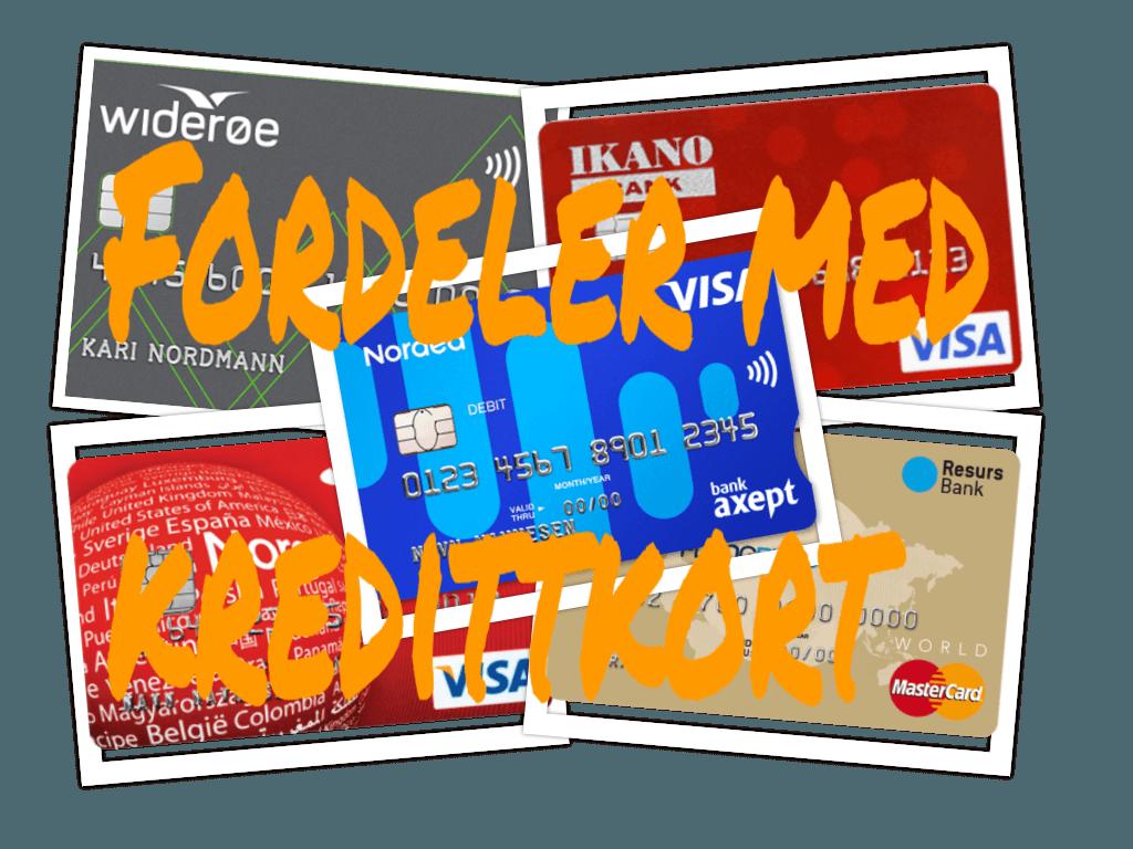Beste fordeler med norske kredittkort
