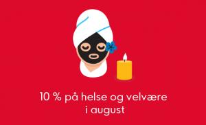 Med Ikano VISA får du 10% rabatt på helse og velvære i august 2019