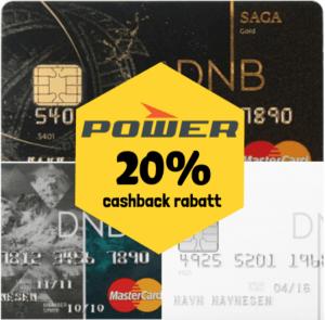 Supertilbud med DNB Mastercard hos Power: 20% cashback rabatt!