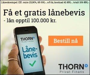 Finansieringsbevis og lånebevis fra Thorn
